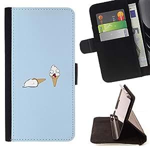 Momo Phone Case / Flip Funda de Cuero Case Cover - Ice Cream Murder - Funny - Samsung Galaxy A5 ( A5000 ) 2014 Version