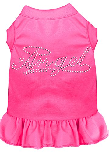 Mirage Pet Products Rhinestone Angel Dress, Small, Bright Pink