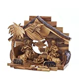 Kurt Adler Double Extra Large Olive Wood Nativity Music Box Home Accessories
