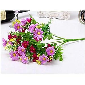 JIAHUAHUHH Single Bundle of European Artificial Flowers, Fake Flowers, Single Decorative Silk Flowers,Wine red,33cm 10