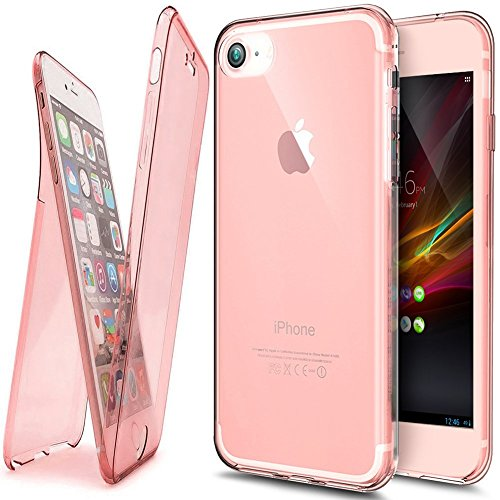 Full Body Coverage (PHEZEN iPhone SE Case,iPhone 5S TPU Case, 360 Full Body Coverage Protective Ultra-Slim Soft Clear TPU Case Scratch-Resistant Silicone Rubber Bumper Case Cover for iPhone 5S 5 SE, Rose Gold)