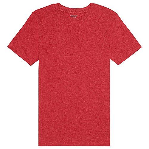 Scarlet Shirt Kids - French Toast Boys'  Short Sleeve Crewneck Tee, scarlet ruby heather, 6,Little Boys