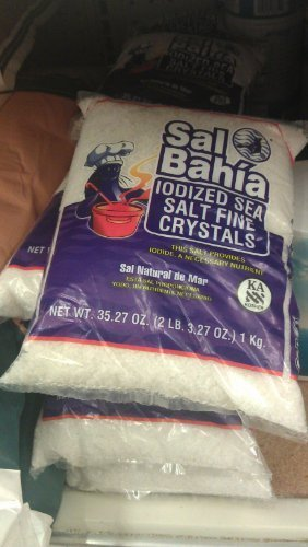 Iodized Salt - Sal Bahia Iodized Sea Salt Coarse Crystals 35.27oz