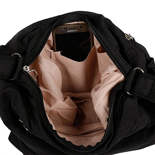 x cm 32 26 Wippermann® para negro Bolso mujer Negro hombro al 13 Christian negro x OvPHHq