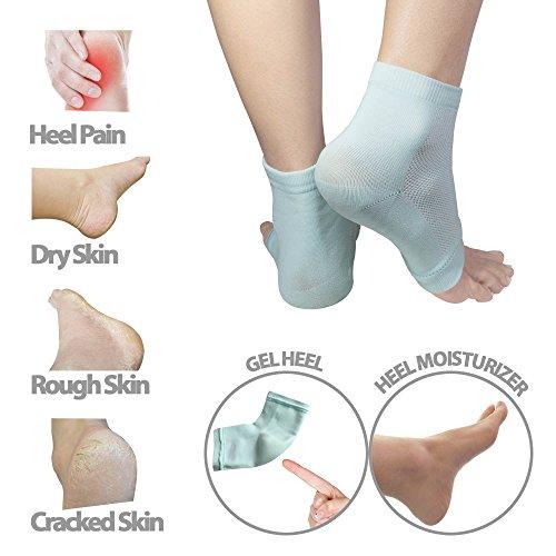 3 PAIRS-Moisturizing Gel Heel Socks w/ Enriched Vitamins for Dry Hard Cracked Heels & DIY Simple Home Remedies by Triim Fitness by Triim Fitness (Image #6)