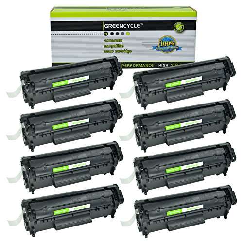 Laserjet 1010 Series - GREENCYCLE 8 Pack Replacement High Yield Black Q2612A 12A Toner Cartridges Compatible for HP 1010 1012 1015 1018 1020 1022 1022n 1022nw 3015 M1005 M1319F Series Laserjet Printer