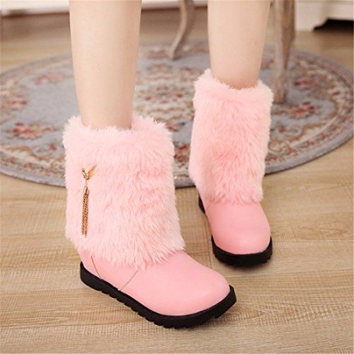 Student girls increased Maomao snow boots Pink z0wSeLk