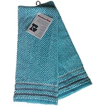 Amazon Com Kitchenaid Kitchen Towel Set Aqua