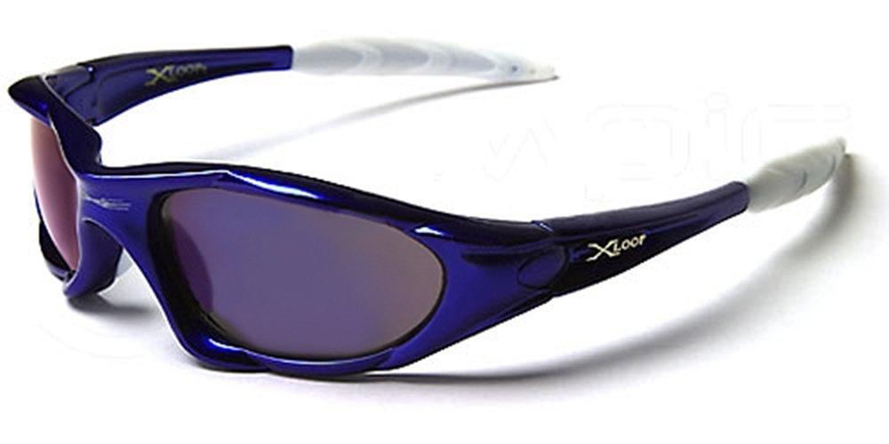 X-Loop Lunettes de Soleil - Sport - Cyclisme - Ski - Conduite - Moto - Plage / Mod. 1002 Argent Bleu Spectrum / Taille Unique Adulte / Protection 100% UV400 uxazXJL8Lk