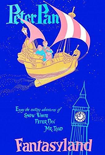"Vintage Disney  It/'s a Small World Fantasyland 8.5/"" X 11/""   Poster"