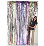 Fun Express Metallic Rainbow Foil Fringe Curtains (1 Piece)(Discontinued by manufacturer)