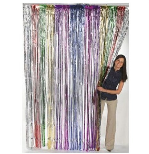 Fringe Decoration (Fun Express Metallic Rainbow Foil Fringe Curtains (1 Piece)(Discontinued by manufacturer))