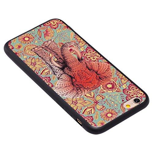 Funda iPhone 6/6S 4.7 pulgadas,SainCat Moda Alta Calidad suave TPU Silicona Suave Funda Carcasa Caso Parachoques relieve Diseño pintado Patrón para Carcasas iPhone 6/6S 4.7 pulgadas Fondo negro 3D TPU Icono de color