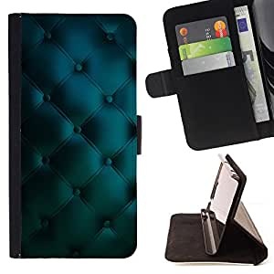 DEVIL CASE - FOR Sony Xperia Z3 D6603 - Leather Blue Vibrant Diamond Pattern - Style PU Leather Case Wallet Flip Stand Flap Closure Cover