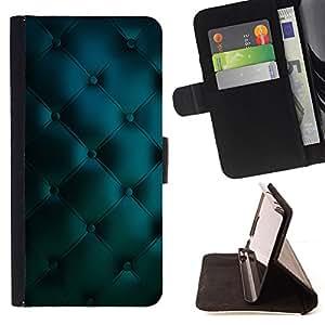 DEVIL CASE - FOR LG Nexus 5 D820 D821 - Leather Blue Vibrant Diamond Pattern - Style PU Leather Case Wallet Flip Stand Flap Closure Cover