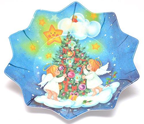Melamin Teller Sternteller Weihnachtsteller Keksteller Dekoteller