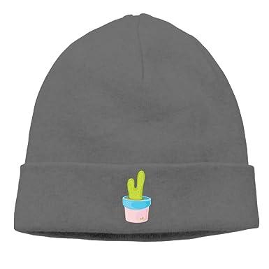 98d7fe4277ce1 A Small Green PlantWarm Winter Hat Knit Beanie Skull Cap Cuff Beanie ...