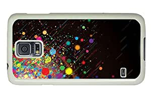 Hipster Samsung Galaxy S5 Case custom made color dots explosion PC White for Samsung S5