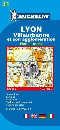 Michelin Lyon: Stadtplan 1:10.000 (MICHELIN Stadtpläne)
