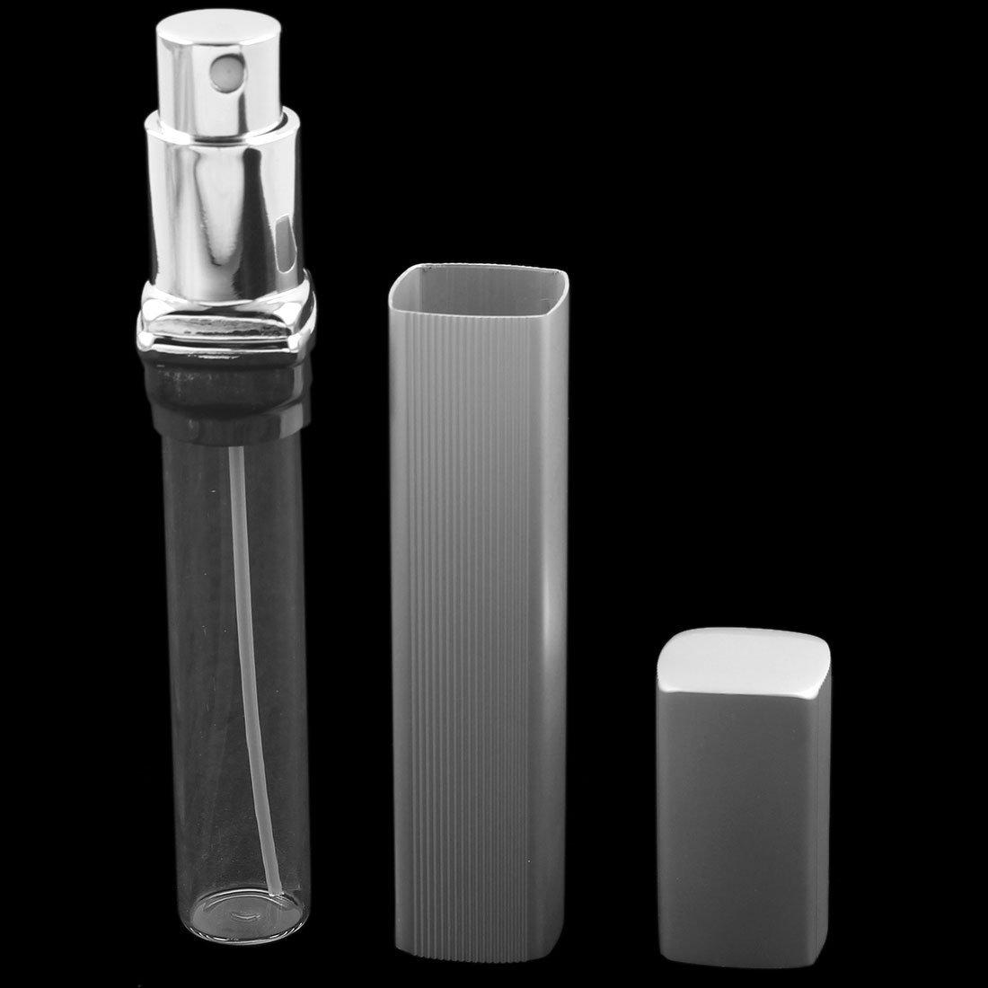 Amazon.com: Viajes eDealMax aleación rectángulo recargable del atomizador del Perfume del aerosol Botella 12ml tono de Plata: Health & Personal Care