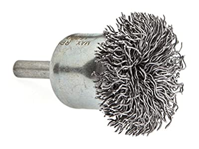 """Forney 72267 End Cup Brush, Coarse Crimped Circular Flared with 1/4"""" Shank, 1-1/2"""""""