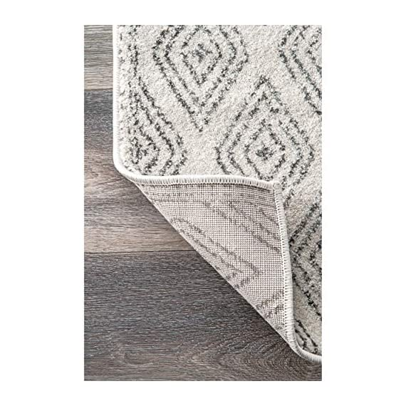 "nuLOOM Sarina Diamonds Runner Rug, 2' 8"" x 8', Grey - Made in Turkey PREMIUM MATERIAL: Crafted of durable synthetic fibers, it has soft texture and is easy to clean SLEEK LOOK: Doesn't obstruct doorways and brings elegance to any space - runner-rugs, entryway-furniture-decor, entryway-laundry-room - 51O2H4lMtvL. SS570  -"