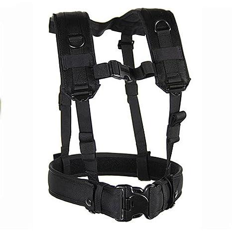 Amazon.com: BLACKHAWK! Load Bearing Suspenders/Harness - Black ...