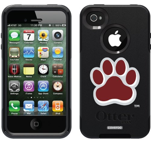 Coveroo Commuter Series Cell Phone Case for iPhone 4s/4 - Retail Packaging - Mississippi State - Paw Design - Mississippi State Iphone 4 Case