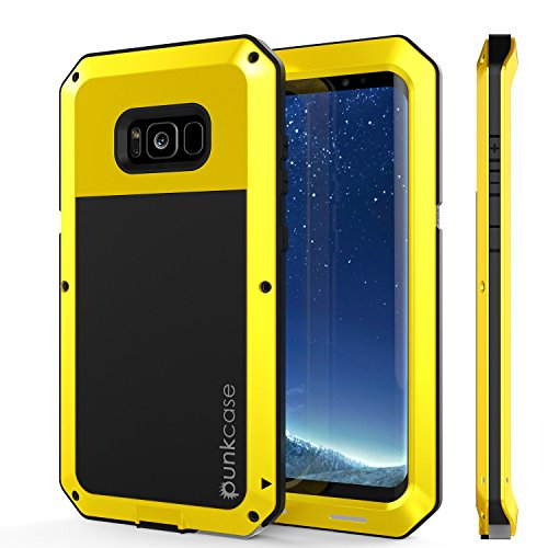 Galaxy S8 Plus Metal Case, Heavy Duty Military Grade Rugged Armor Cover [shock proof] Hybrid Full Body Hard Aluminum & TPU Design [non slip] W/ Prime Drop Protection for Samsung Galaxy S8+ [Neon]