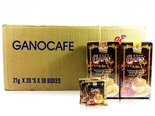 30 Box GanoCafe 3 In 1 Ganoderma Gourmet Coffee (20 Sachets Per Box) by Gano Excel