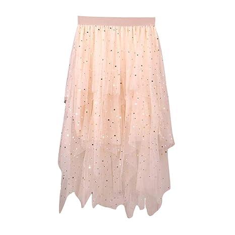 Minifalda Plisada asimétrica para la Playa o el Verano, hasta la ...