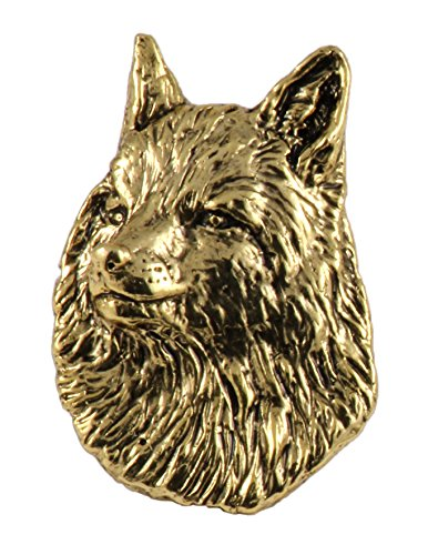 Creative Pewter Designs Red Fox Head Mammal 22k Gold Plated Lapel Pin, Brooch, Jewelry, MG044