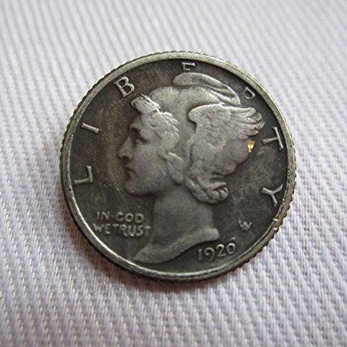 1920-D USA Mercury Dime coins COPY