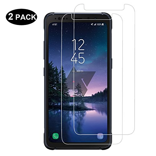 [2 PACK] Samsung Galaxy S8 Active Screen Protector [Tempered Glass] – RBEIK Premium 9H Hardness Tempered Glass Screen Protector for Samsung Galaxy S8 Active Smartphone with Anti-Scratch Feature