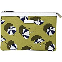 Gucci Women's Yellow Clutch Parasols Canvas Cosmetic Case 282071 7309