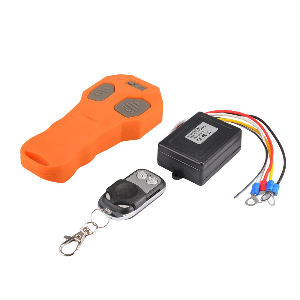 XCSOURCE DC12V Car Winch Wireless Remote Control + Keyfob Remote Controller + Receiver for Car Auto Truck Jeep ATV Winch MA1613