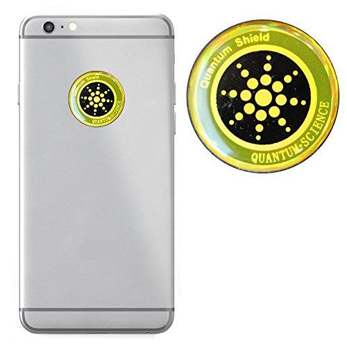 EMF Blocker by Quantum - Anti-Radiation Sticker - Beautiful & Minimalist Design - Durable Build - Zero Signal Interference - Compatible with Phones / Tablets / Laptops - 1 Sticker (Radiation Design)