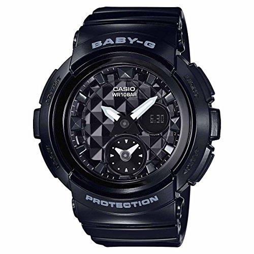 Casio Baby-G BGA195-1A Black / Black Silicone Analog Quartz Unisex Watch