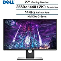 2018 Newest Dell Flagship High Performance 27 Gaming Monitor with 144 Hz Refresh Rate, WQHD 2560 x 1440 Resolution (2k) and NVIDIA G-Sync 16:9 TN Panel