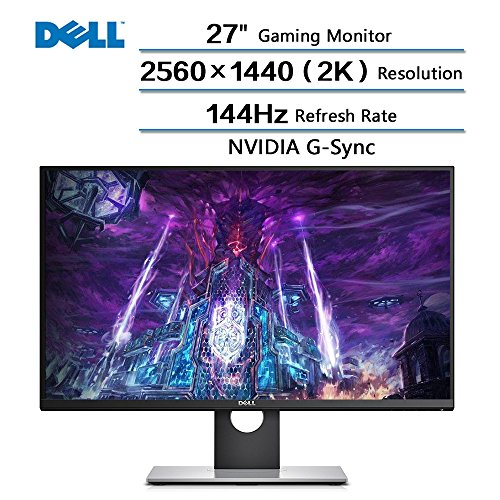 "2018 Newest Dell Flagship High Performance 27"" Gaming Monitor with 144 Hz Refresh Rate, WQHD 2560 x 1440 Resolution (2k) and NVIDIA G-Sync 16:9 TN Panel"