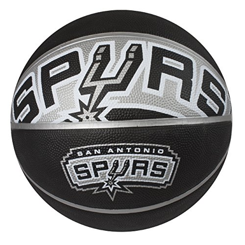 fan products of Spalding NBA San Antonio Spurs Courtside Rubber Basketball