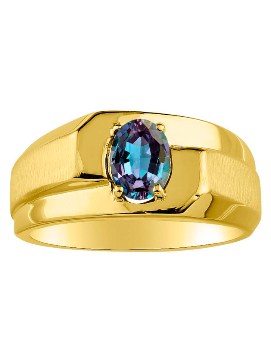 RYLOS Simply Elegant Beautiful simulated Alexandrite/Mystic Topaz Ring - June Birthstone
