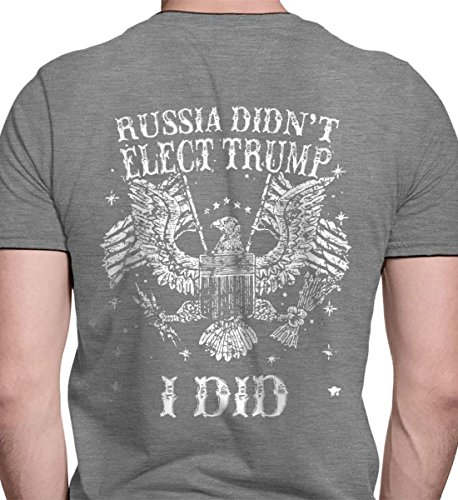 Russia Didn't Elect Trump. I Did. HTH Grey/XL Port & Co. T-Shirt. from Sons Of Liberty