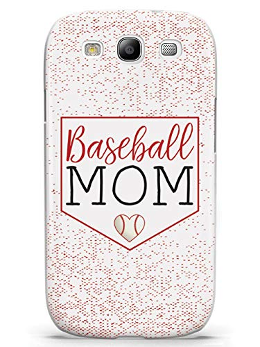 Inspired Cases - 3D Textured Galaxy S3 Case - Protective Phone Cover - Rubber Bumper Cover - Case for Samsung Galaxy S3 - Baseball Mom - White Case (Baseball Samsung Galaxy S3 Case)