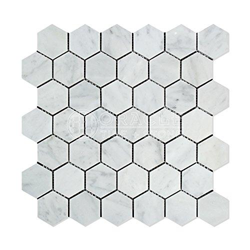 60%OFF Calacatta Gold Italian Calcutta Marble Hexagon Mosaic Tile 3 inch Polished