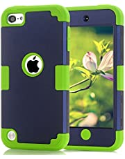Case for iPod Touch 5 6 Case, CheerShare Dual Layered 3 in 1 Hard PC Case + Silicone Shockproof Heavy Duty High Impact Armor Case Cover Protective Case for Apple iPod Touch 5 6th Generation