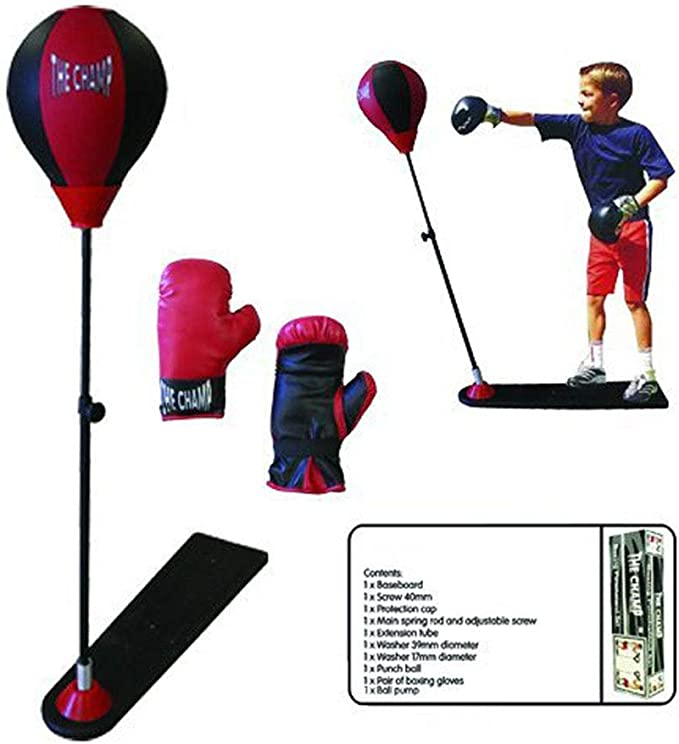 Punching Bag Children With Floor Lamp And Boxing Grande Pungiball Adjustable CM