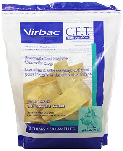 Virbac C.E.T. Enzymatic Oral Hygiene Chews, Extra Large Dog, 30 Count