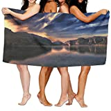 Jaylut 32 Inch51 Inch 3D Print Bath Towel Lake Sunset Spain Soft High Water Absorption Wrap Washcloths