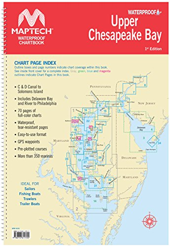 Maptech Upper Chesapeake Bay Waterproof Chartbook 1st Ed
